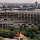 Blick auf das Corbusierhaus von Westen