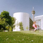 Neubauten und Rheinturm