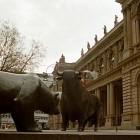 Bär und Bulle vor der Frankfurter Börse