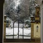 Blick in den Garten der Deutschen Botschaft in Prag
