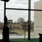 Blick vom Büro des Bundeskanzlers zum Reichstag